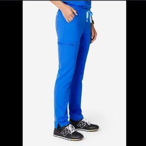 Figs yola skinny scrub pants royal blue